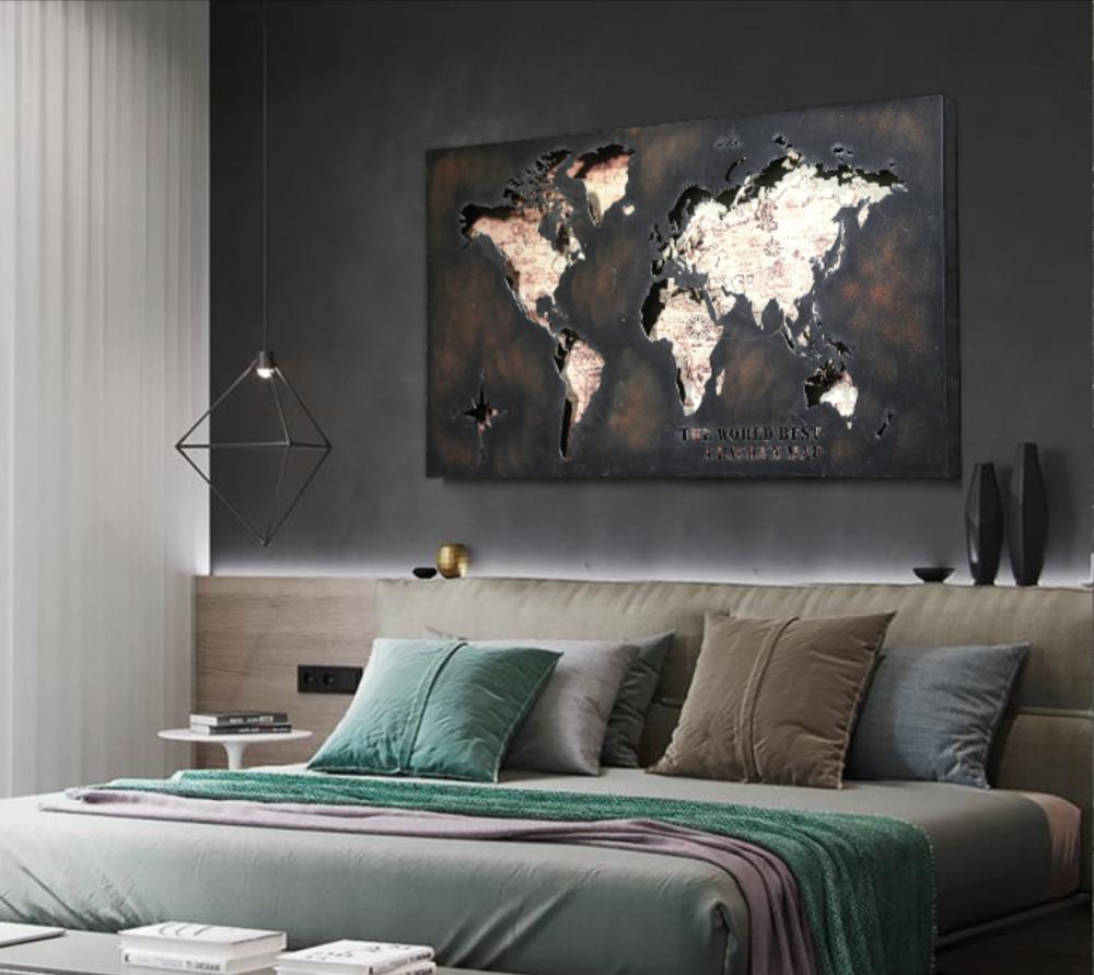 لوحة جدارية خريطة العالم