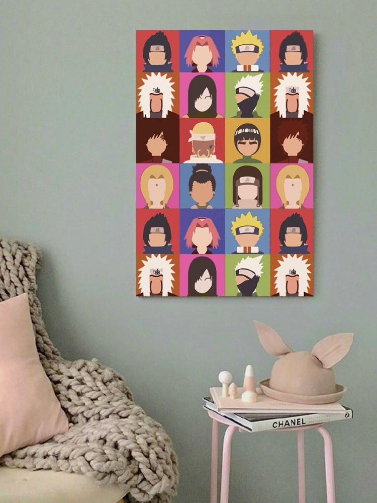لوحة انمي شخصيات ناروتو خشب ام دي اف مقاس 40x60 سنتيمتر