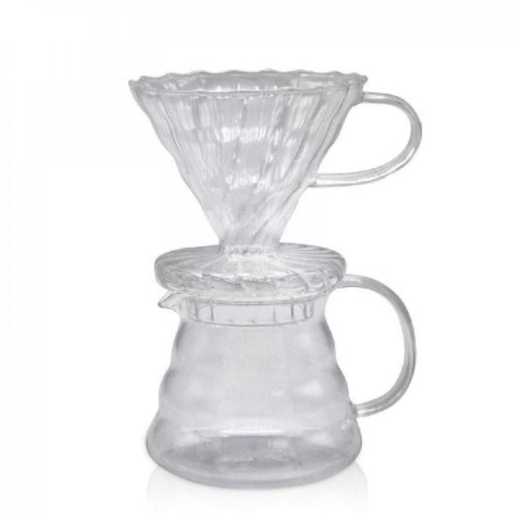 طقم ترشيح قهوة زجاجي