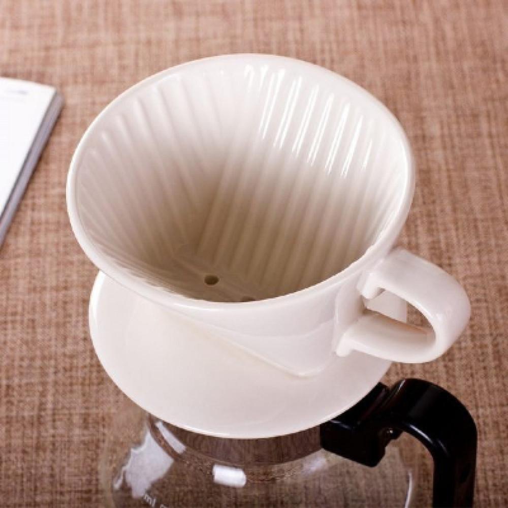 دروب كوفي سيراميك لعمل القهوة بالتقطير