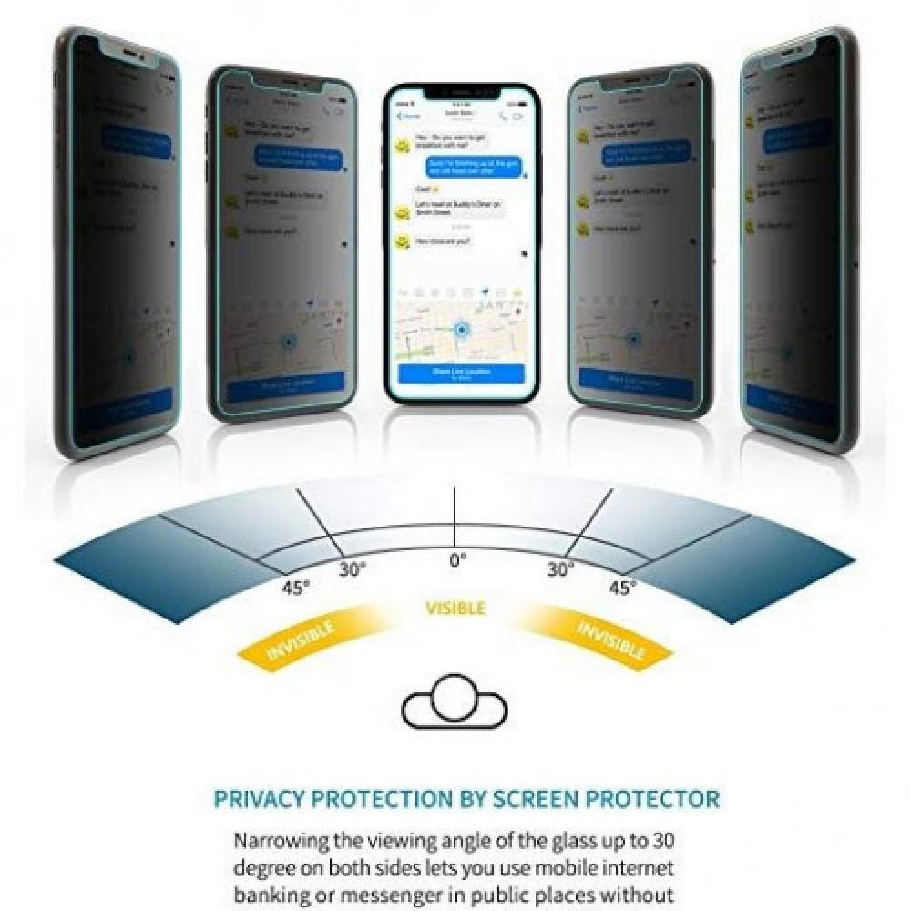 استكر حماية و خصوصية لكامل الشاشة 3D لأيفون XS MAX من جوبوكي