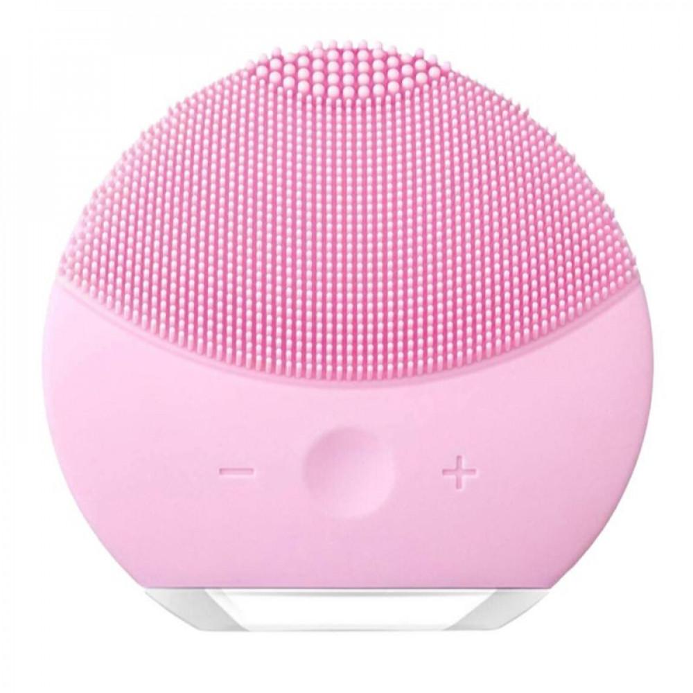 جهاز من السيليكون لتنظيف الوجه وردي