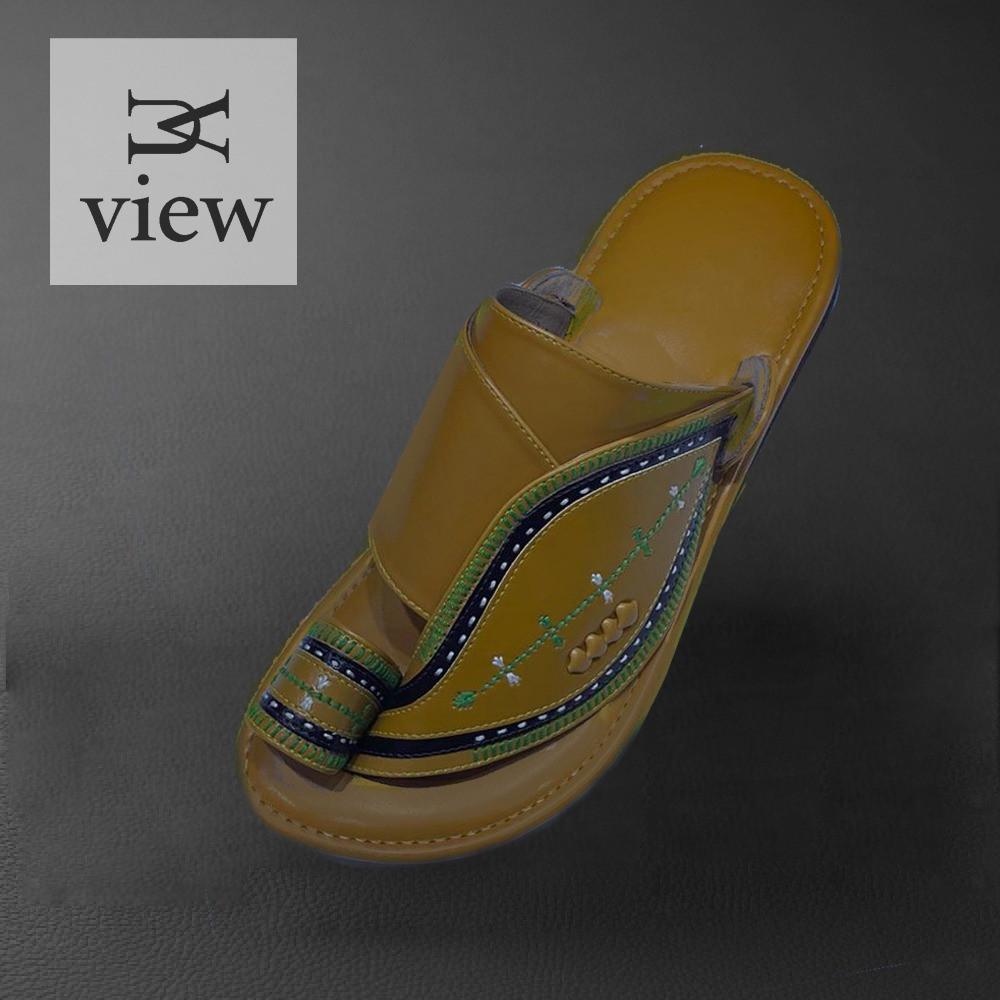 حذاء شرقي اصفر مطرز 509