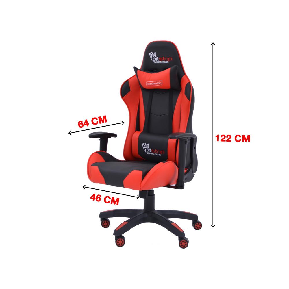 كرسي  العاب جيمنج احمر  C-DTR8062