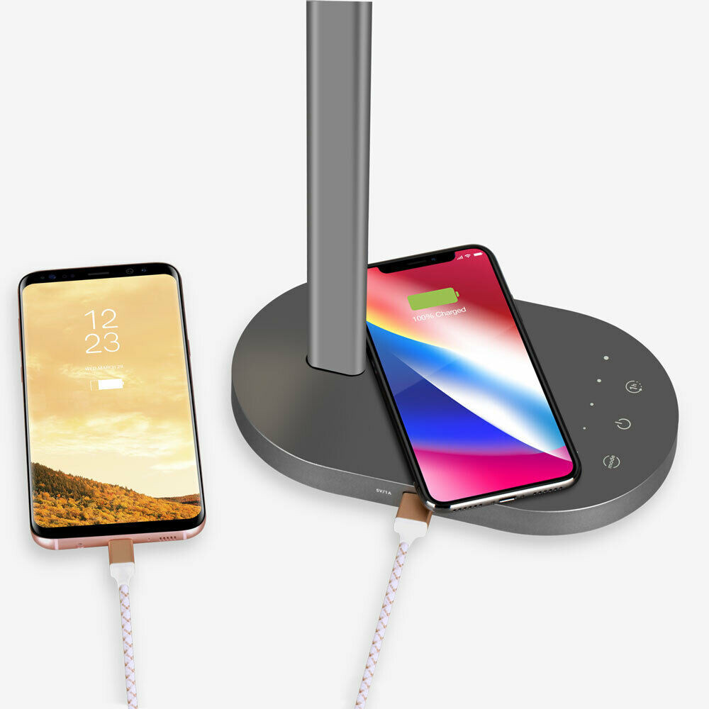 MOMAX QLED Eye Protection Desk Lamp With Wireless Charging Base 2 in