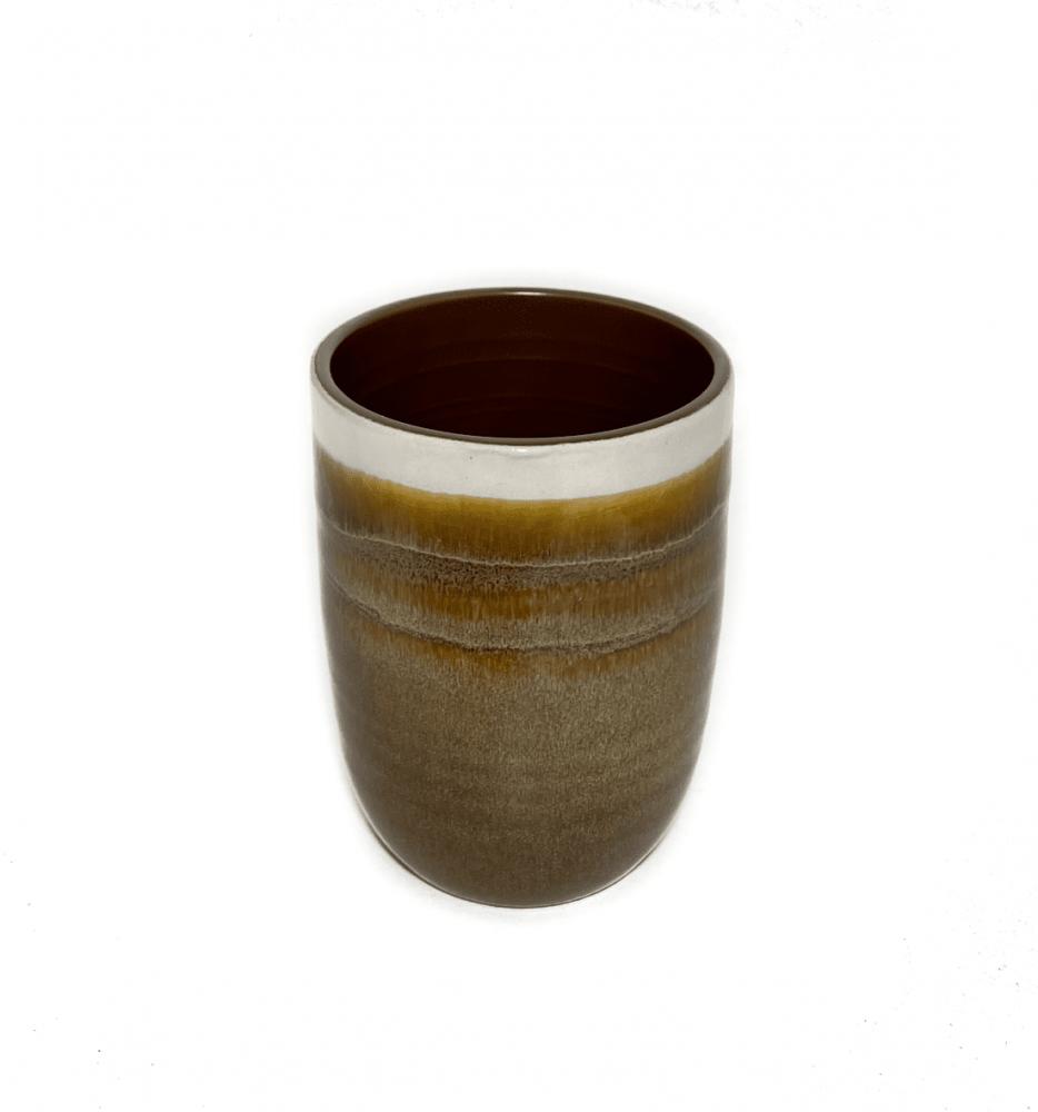 كوب قهوة سيراميك باللون البني بتدرجات رملية 300 ملي