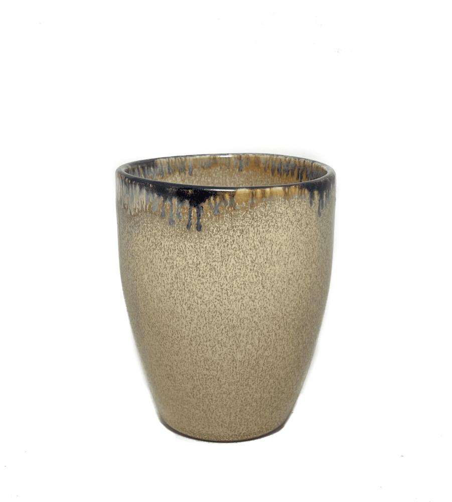 كوب قهوة سيراميك باللون البني الذهبي 150 ملي