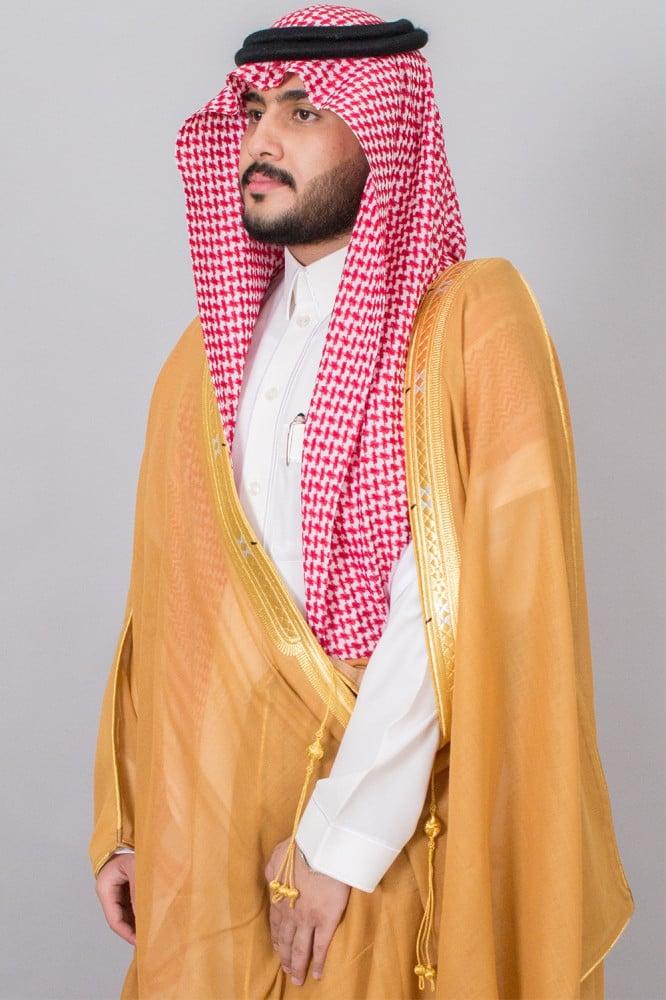 بشت مشلح مروبع زعفراني ياباني غاط