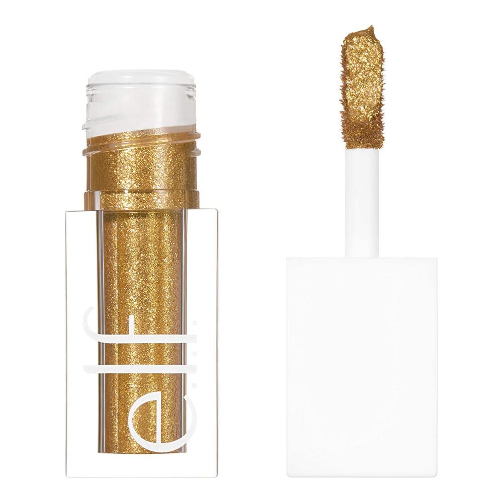 قليتر من الف elf liquid glitter eyeshadow 24k gold