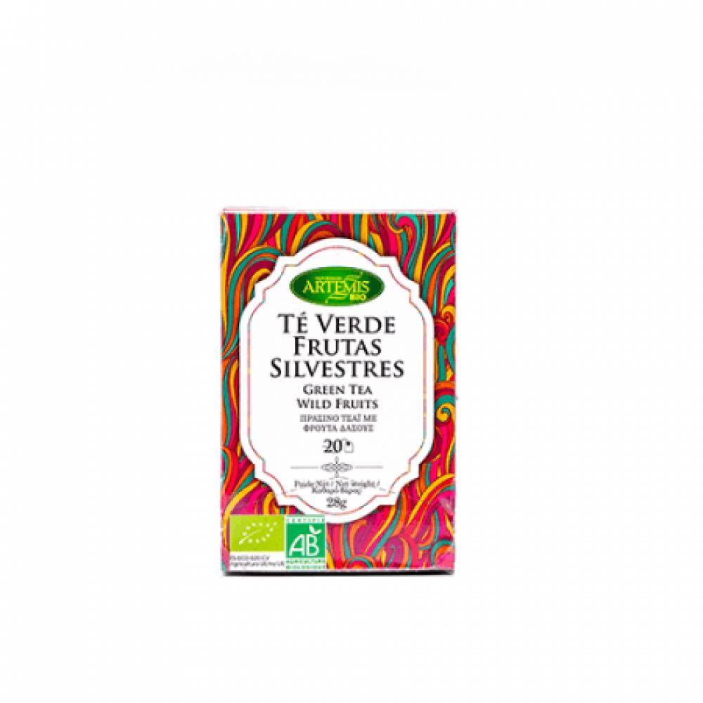 شاي أخضر بنكهة التوت البري عضوي