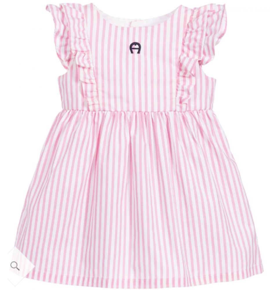فستان أنيق باللون الزهري من ماركة Aigner