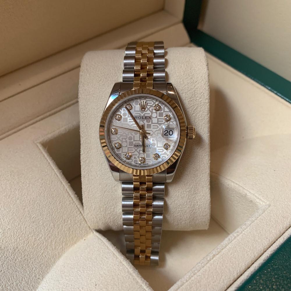 ساعة رولكس ديت جست الأصلية الفاخرة مستخدمة