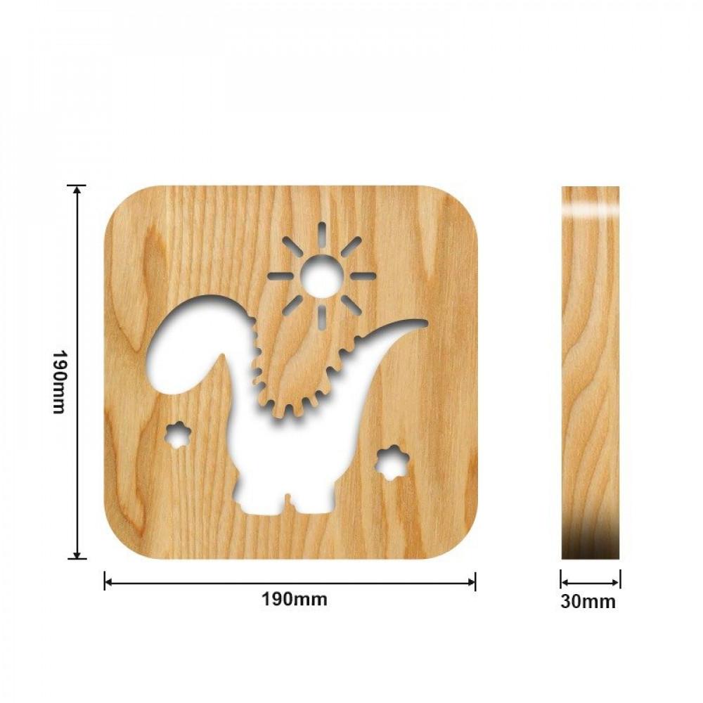 مواسم تحفة فنية خشبية إضاءة ليد القياسات التفصيلية للتحفة والقاعدة