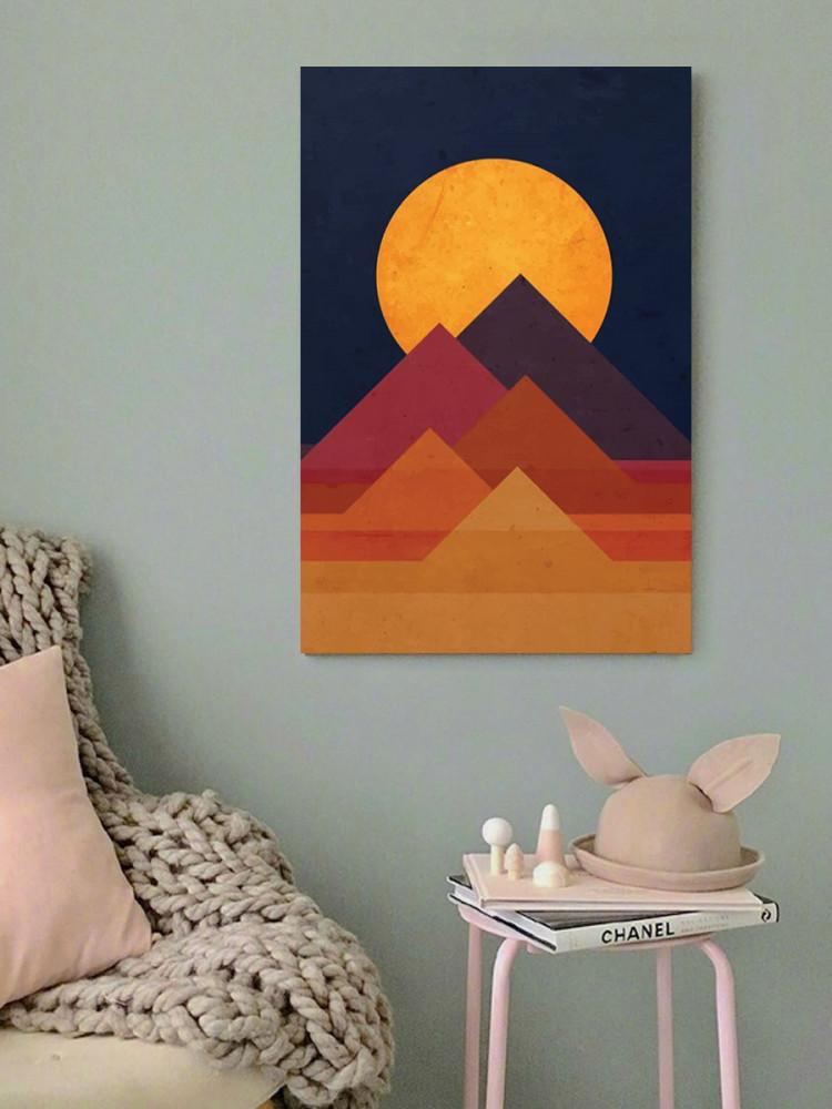لوحة الأهرامات خشب ام دي اف مقاس 40x60 سنتيمتر