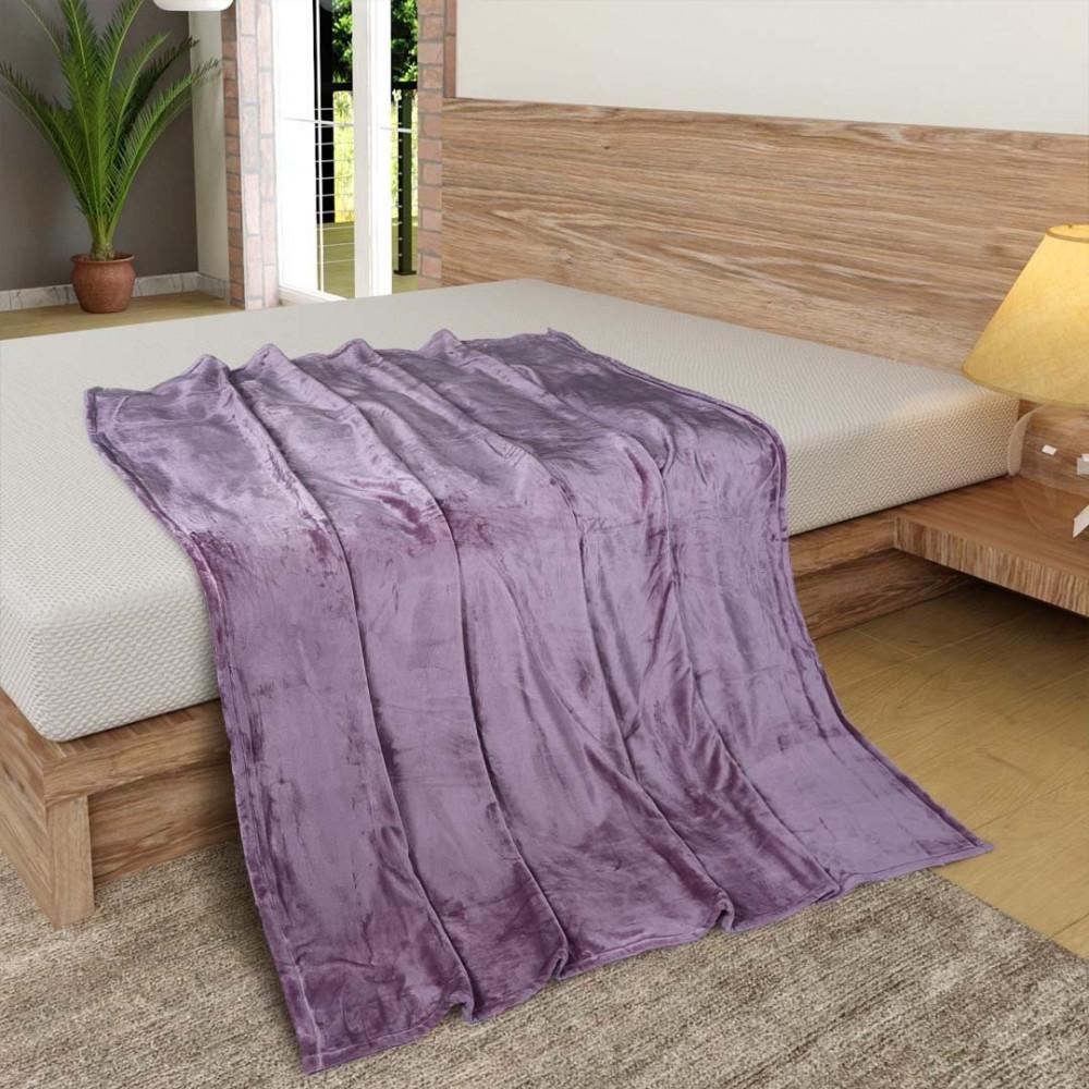 بطانية هالينا مخمل خفيفة مفرد - وردي - متجر مفارش ميلين