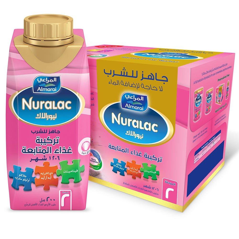 نيورالاك حليب أطفال رقم 2 200 مل 6 قطعة هاي مامي