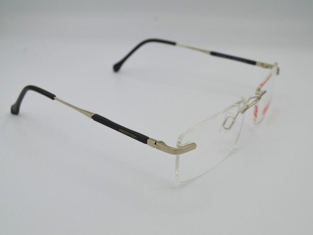 نظارة طبية بدون اطار من ماركة DESPADA لون الذراع اسود و فضي