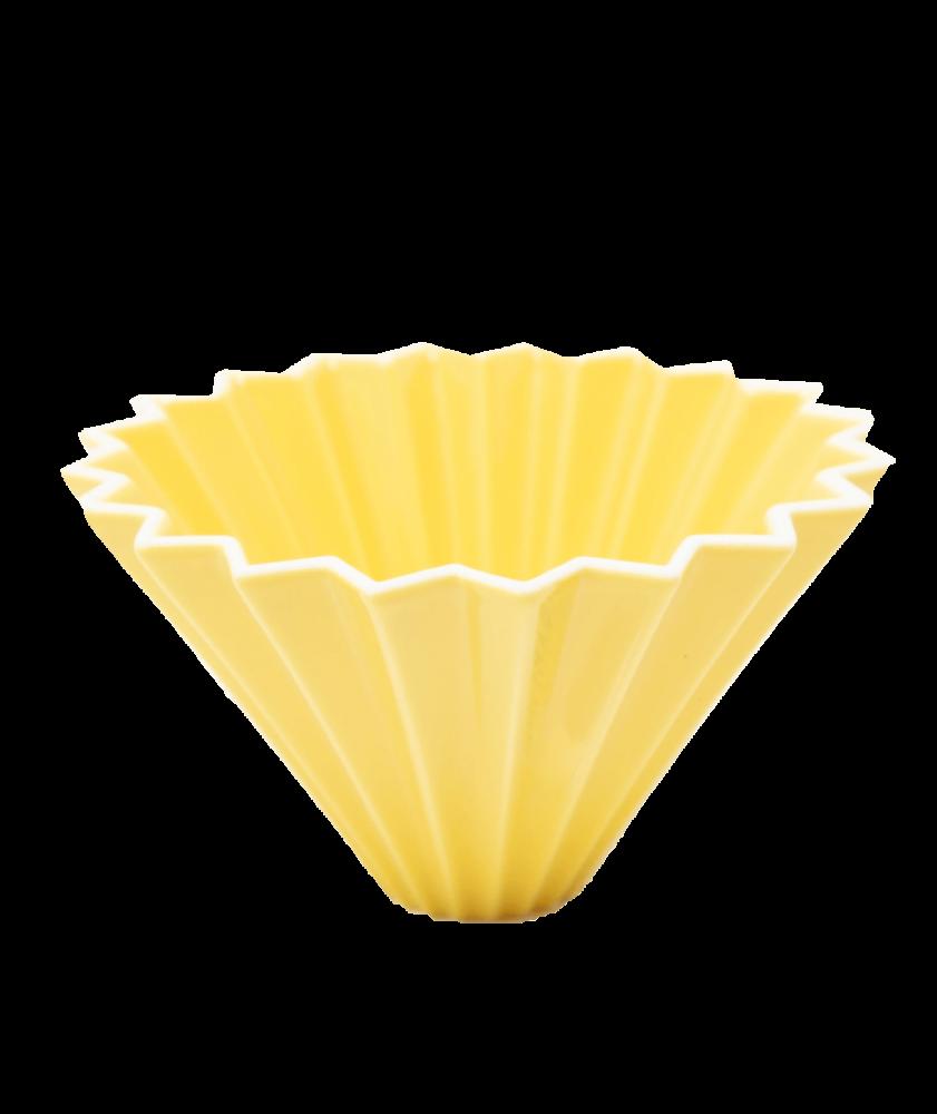 بياك-قمع-ترشيح-origami-V02-سيراميك-اصفر-ادوات-الترشيح
