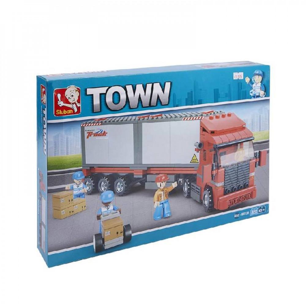 Sluban, Truck, Toys, ألعاب, سلوبان, قطع تركيب شاحنة