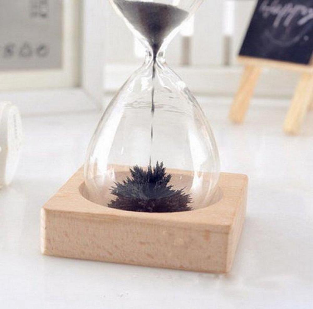 ساعة ساعة رملية مغناطيسية ساعة توقيت مبتكرة هدايا اللوازم المكتبيرملية