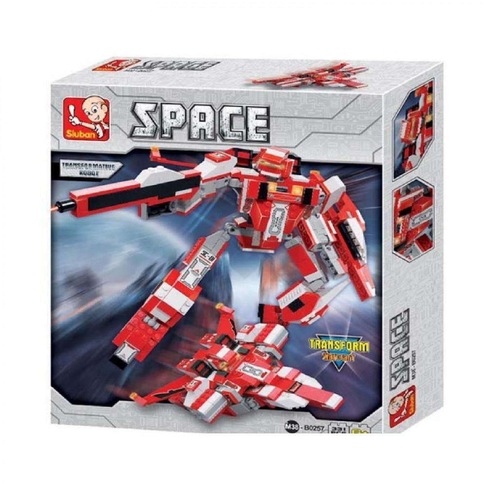سلوبان, قطع تركيب بلاستيك روبوت, ألعاب, Robot, Toys, Sluban