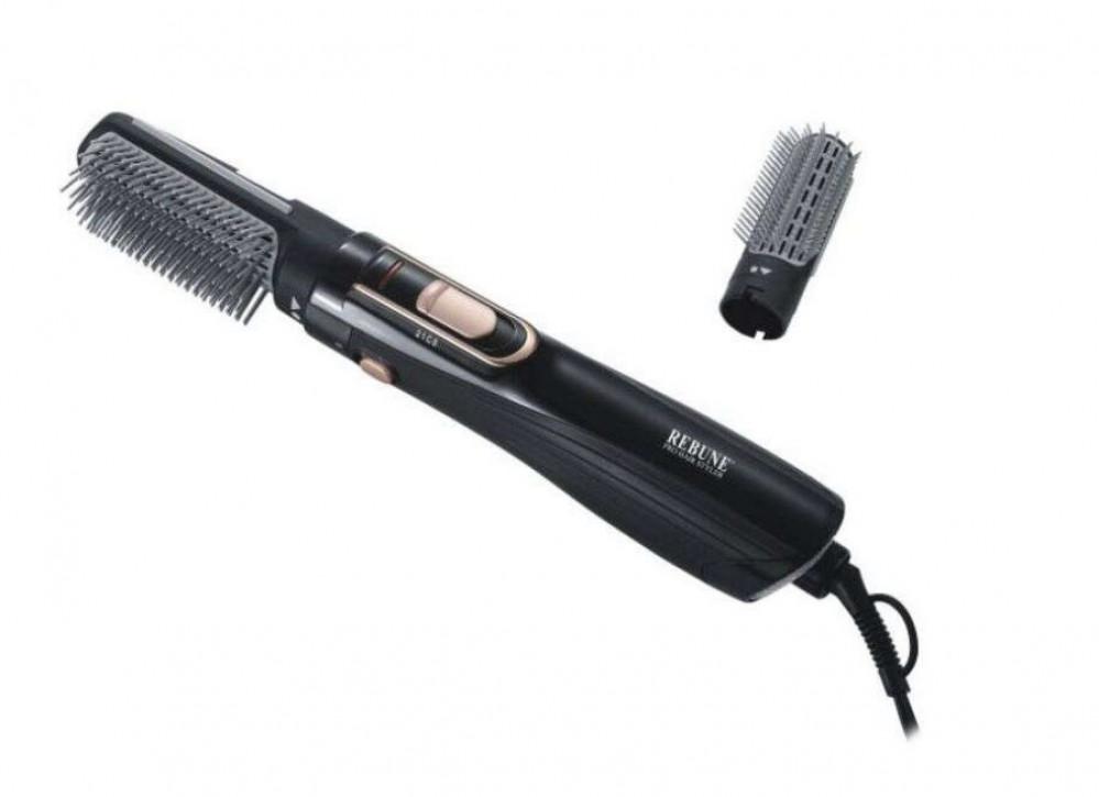 ريبون فرشاة تصفيف وفرد وتمويج الشعر اسود RE-2025-1 PLUS من ريبون REBUN