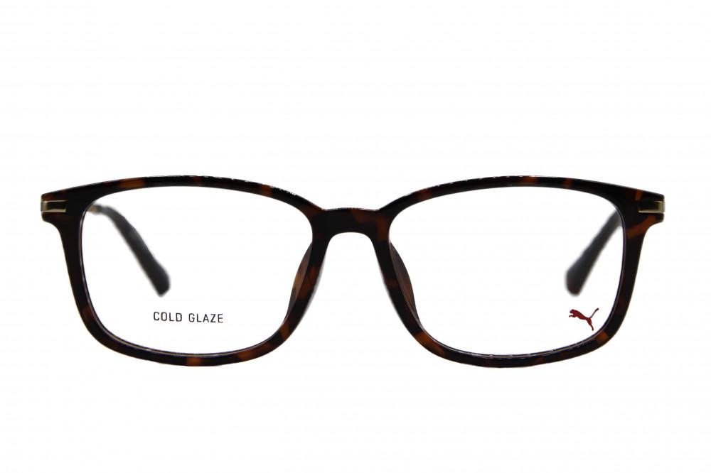 نظارة طبية من ماركة PUMA بتصميم مربع لون الاطار  تايقر