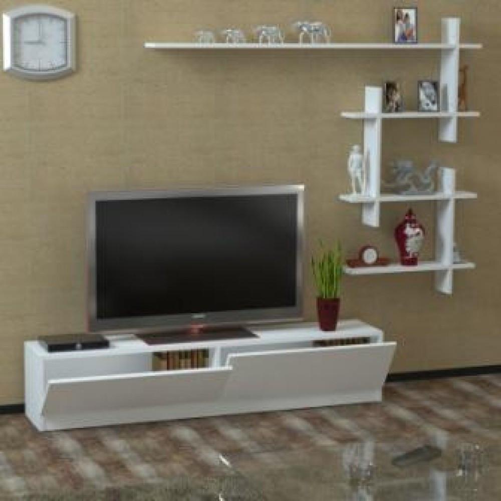 طاولة تلفزيون ابيض Ahenk