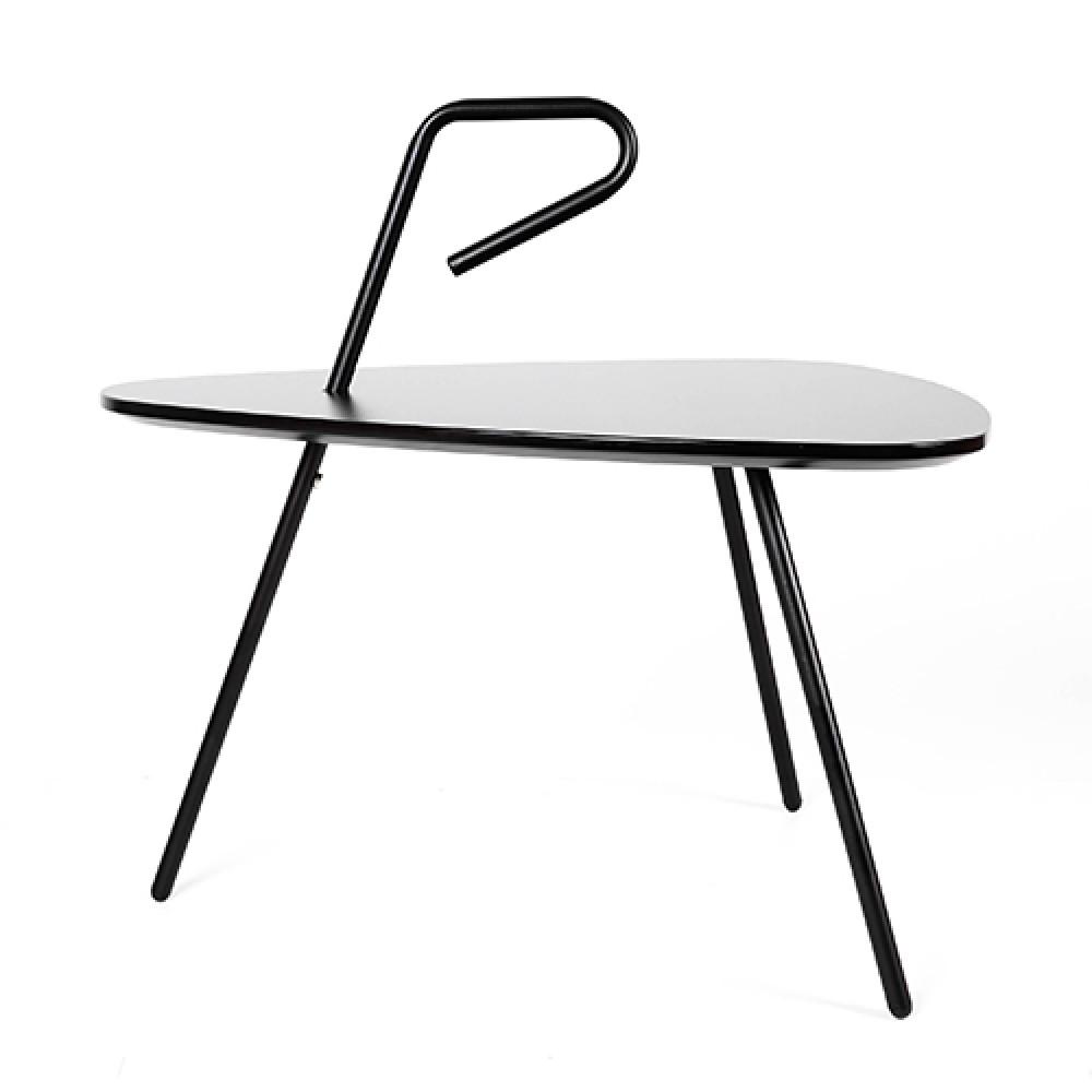 من مواسم طاولة خدمة موديل روك سوداء اللون مصنوعة من خشب الMDF
