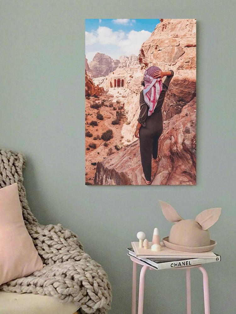 لوحة مدينة البتراء الأردن خشب ام دي اف مقاس 40x60 سنتيمتر