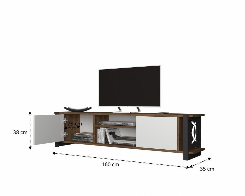 تجارة بلا حدود طاولة تلفاز أنيقة وعصرية القياسات التفصيلية للطاولة