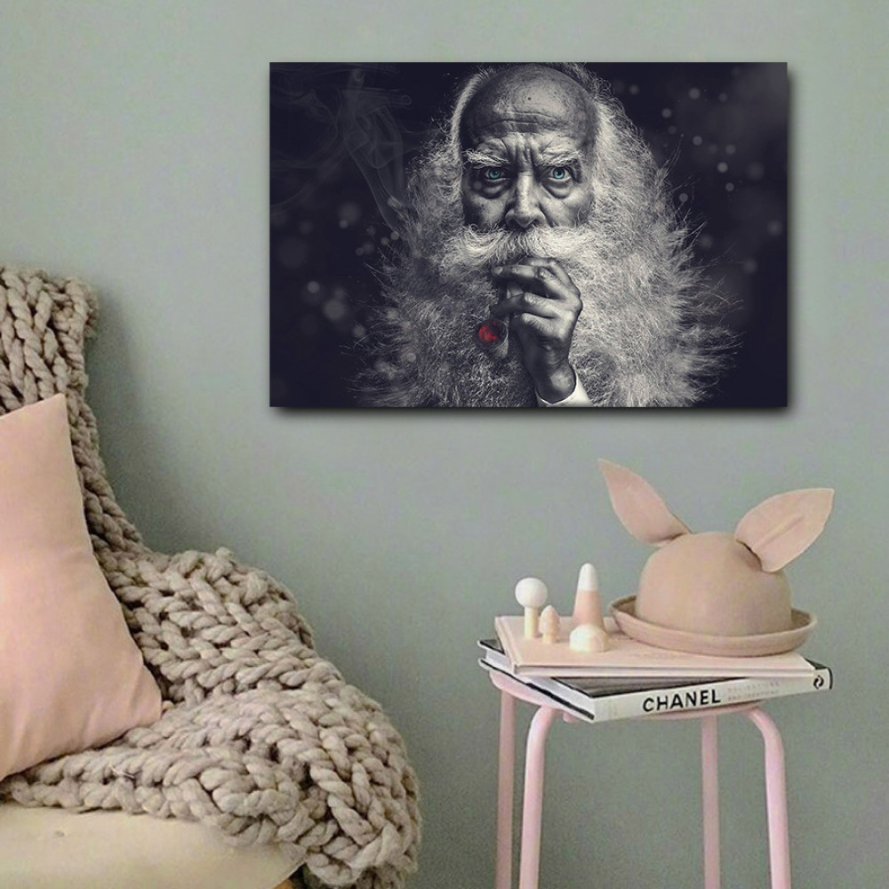 لوحة رجل مسن خشب ام دي اف مقاس 40x60 سنتيمتر