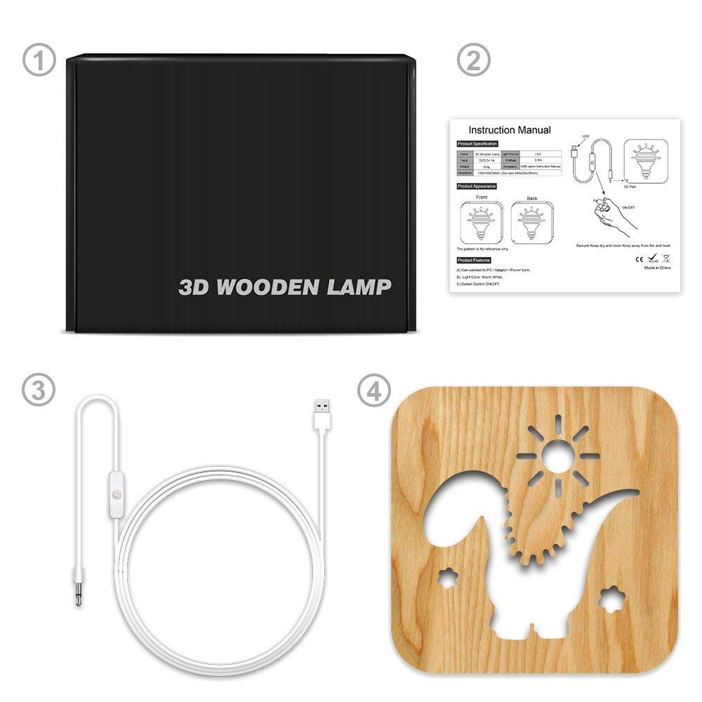 مواسم تحفة فنية خشبية إضاءة ليد طريقة تركيب القطعة وتوصيل الإضاءة