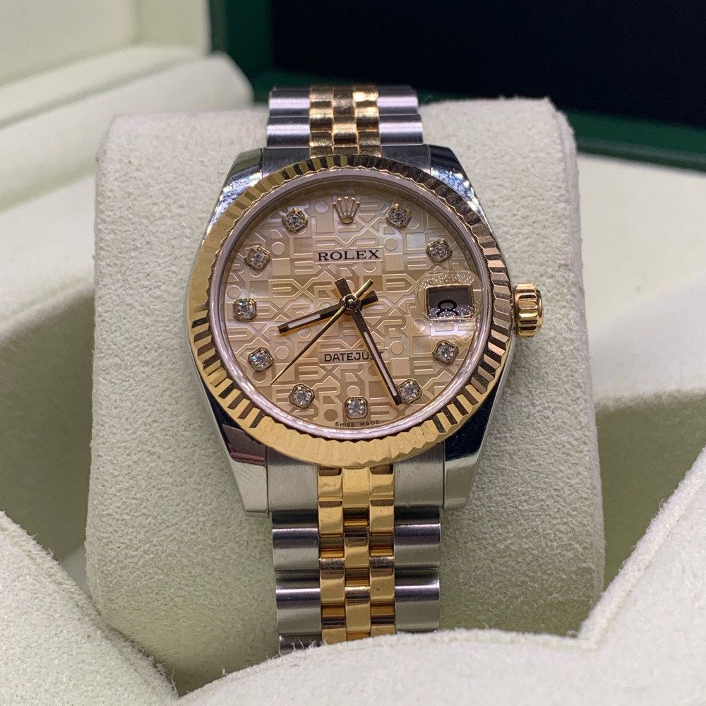 ساعة رولكس ديت جست أصلية ثمينة مستخدمة