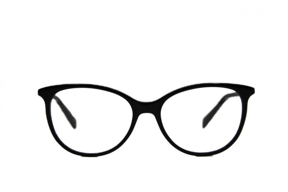 نظارة طبية من ماركة GUCCI بتصميم دائري لون الاطار  اسود