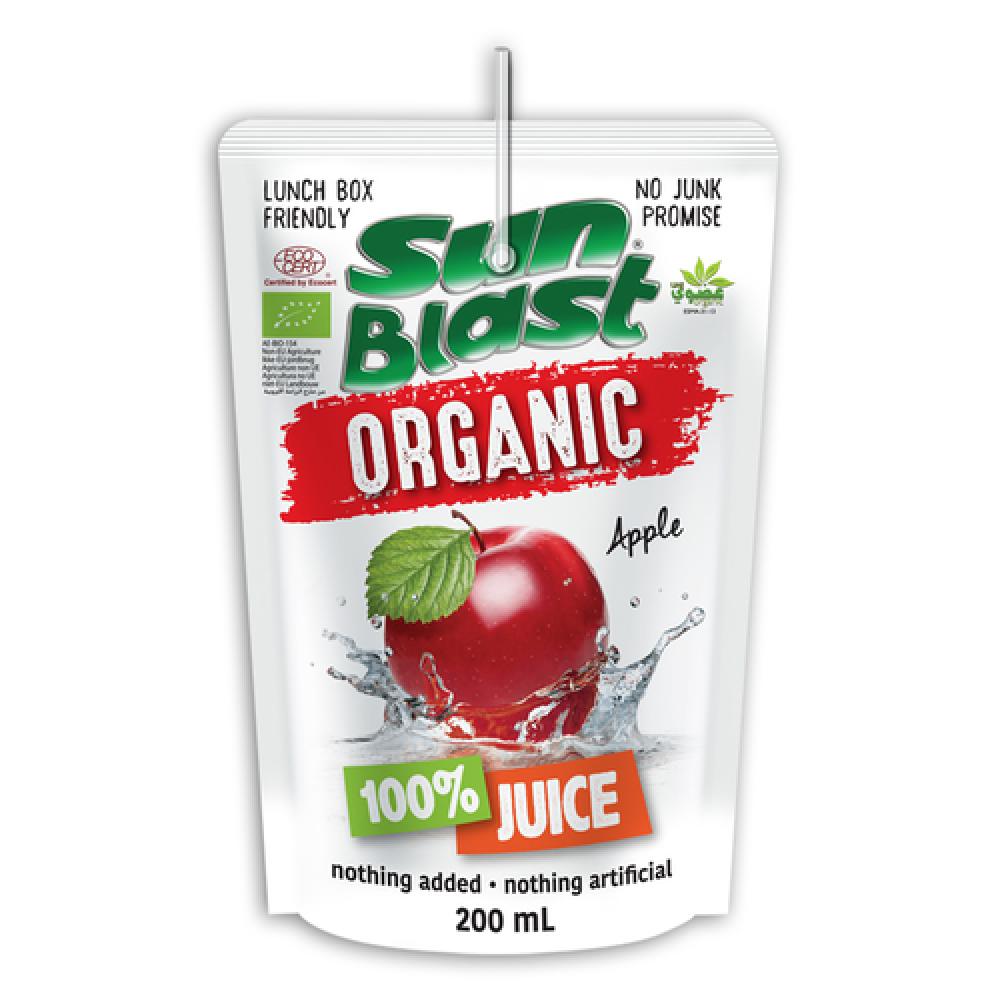 سن بلاست عصير تفاح عضوي 200 مل