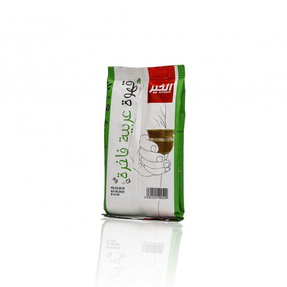 كرتون قهوة الخير عربي بعبق الهيل 125 جم - 24 كيس