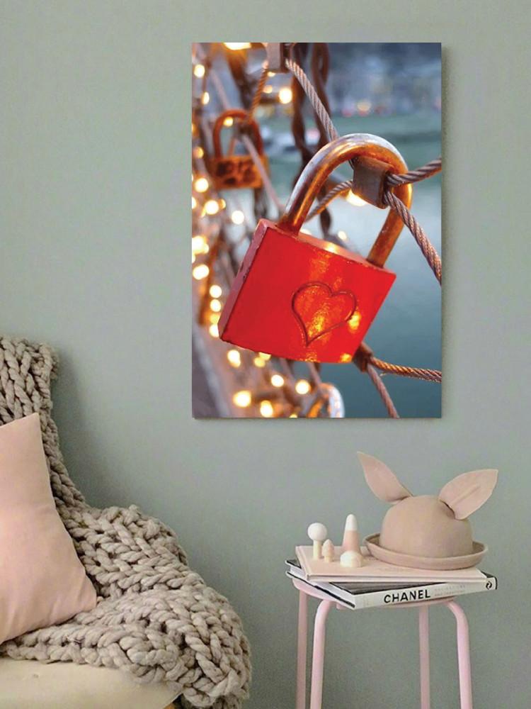 لوحة قفل الحب خشب ام دي اف مقاس 40x60 سنتيمتر
