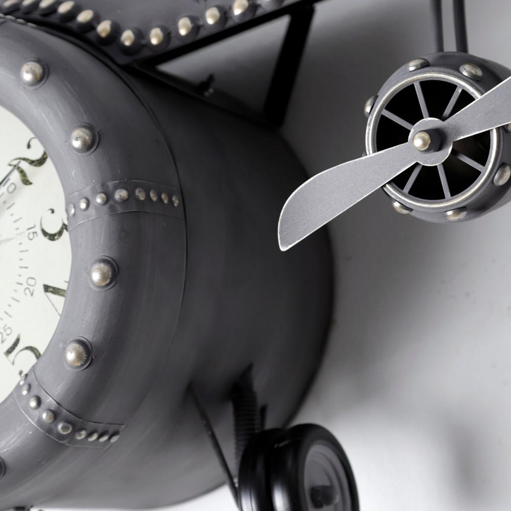 فخامة تصميم ساعة حائط أنتيكة موديل بلان فور شكل طائرة صناعة معدنية