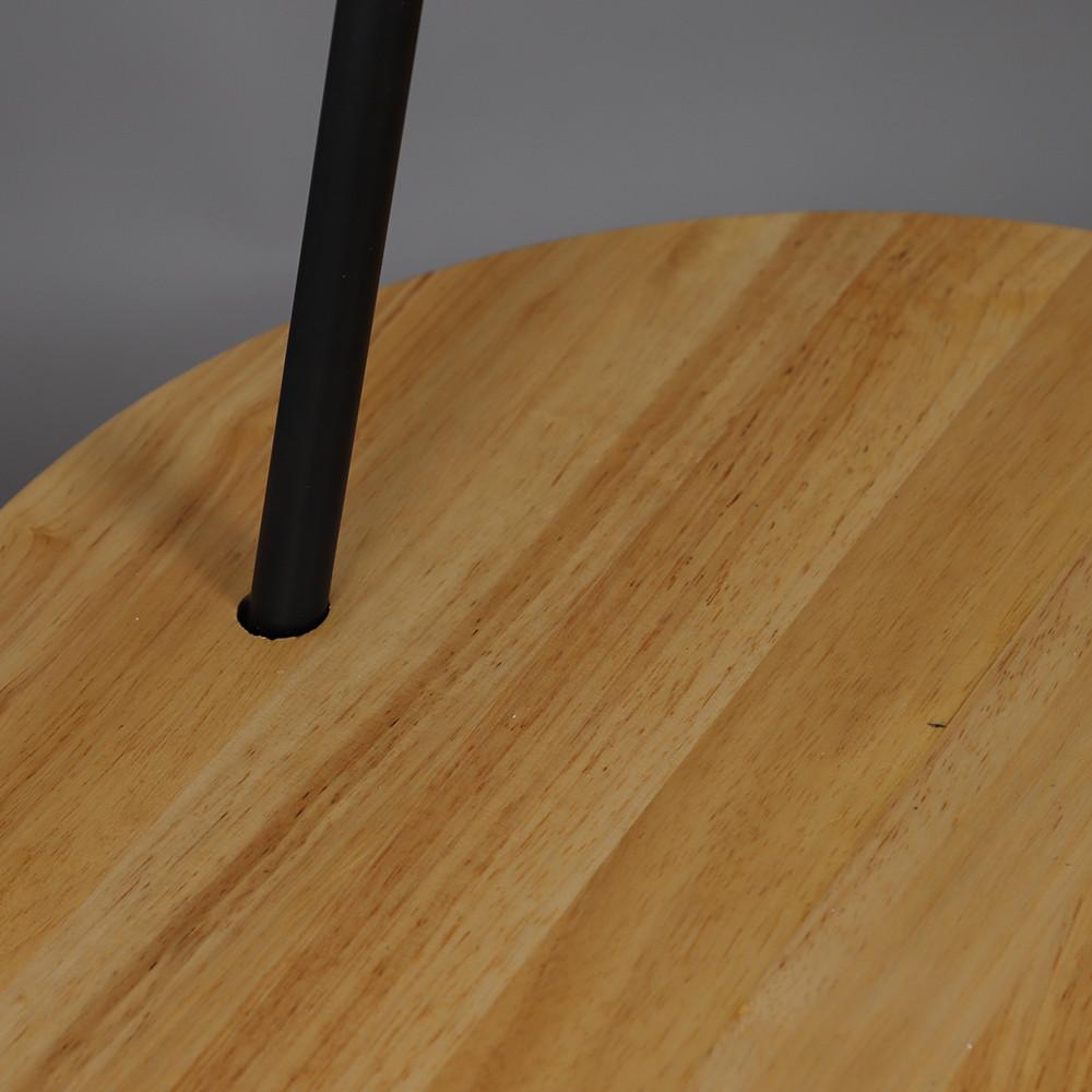 صور أباجورة انارة أرضية بطاولة صغيرة موديل لايتينق قاعدة حديدية وغطاء