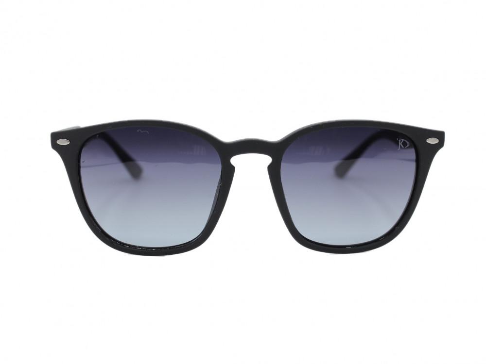 نظارة شمسية  بتصميم مربع من ماركة JKلون العدسة اسود مدرج رجالية كلاسيك