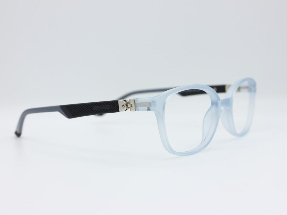 نظارة طبية للأطفال من ماركة T دائرية مع عدسات بحماية لون الاطار شفاف و