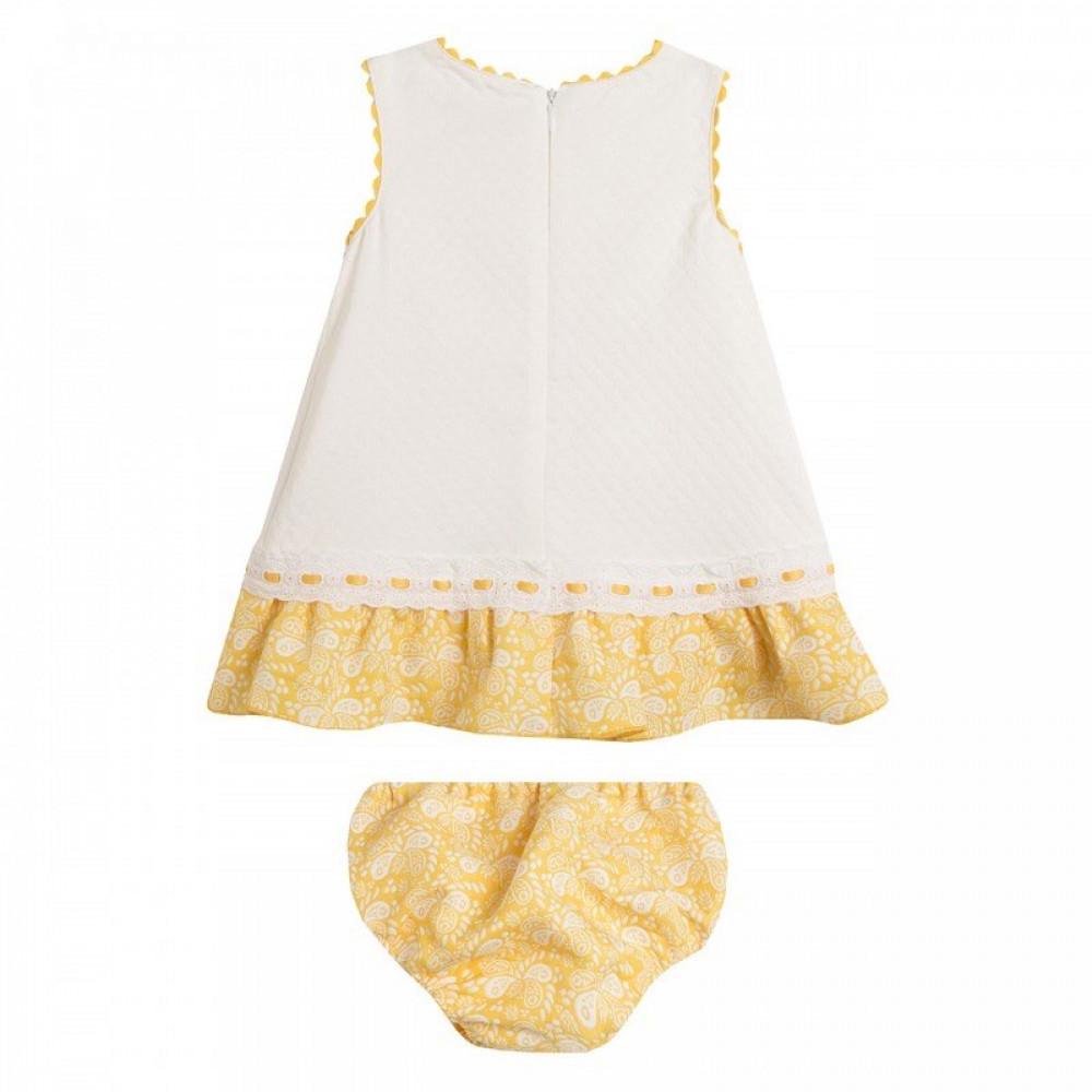 فستان-ابيض-مع-اصفر
