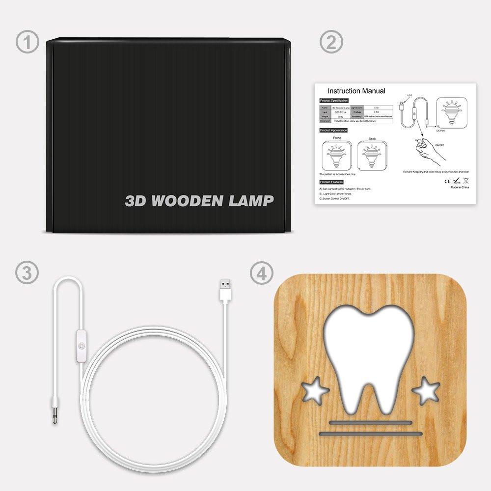 مواسم تحفة فنية خشبية ومضيئة بشكل سن كيفية تركيب التحفة وتوصيل الإضاءة