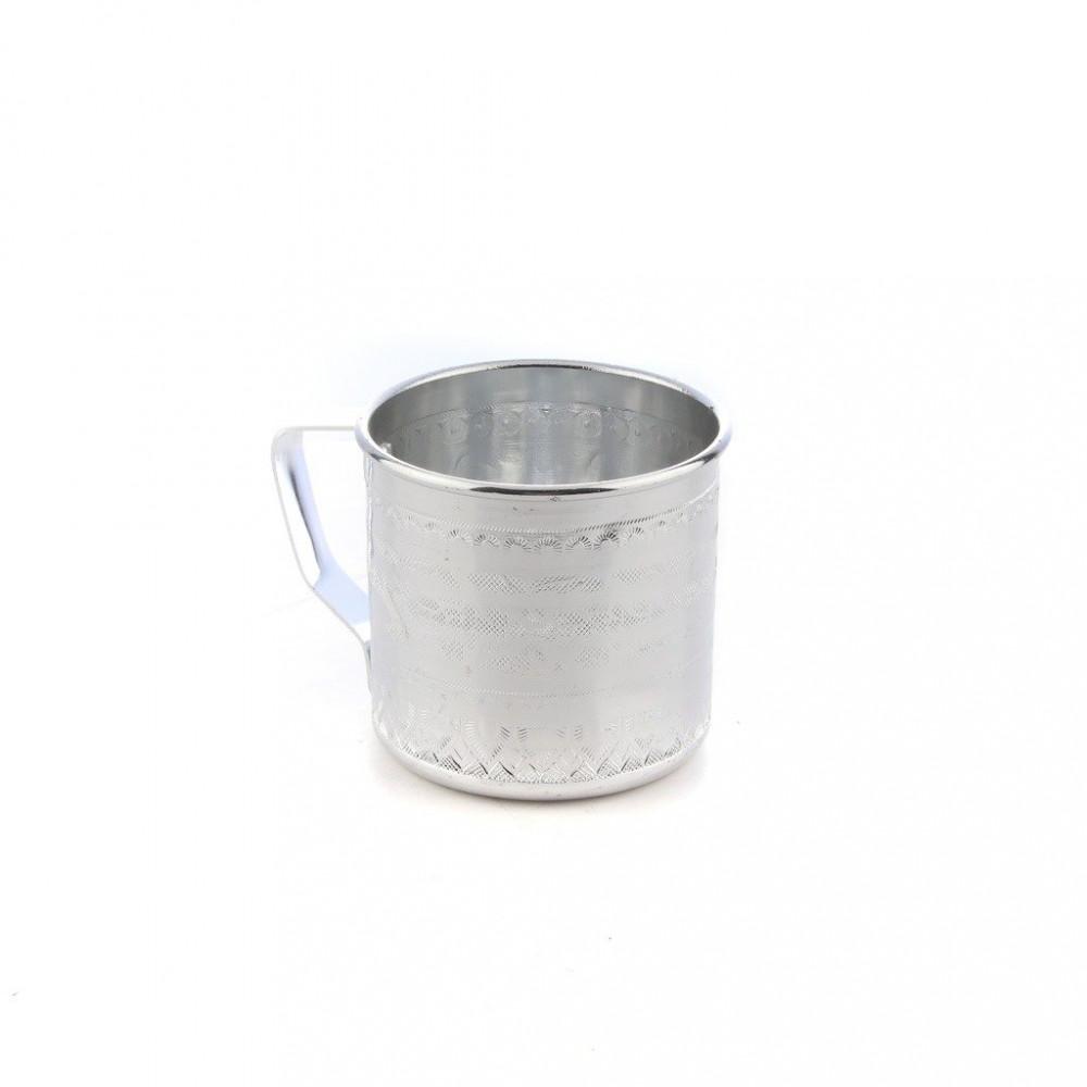 كاس ماء المنيوم منقوش 8 سم E1108