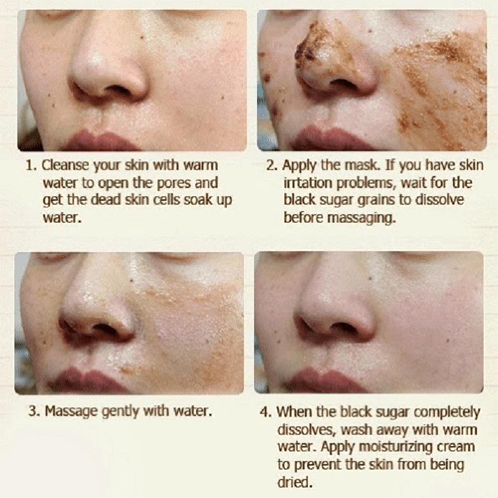قناع الوجه بالسكر الأسود من سكن فود - 100غ