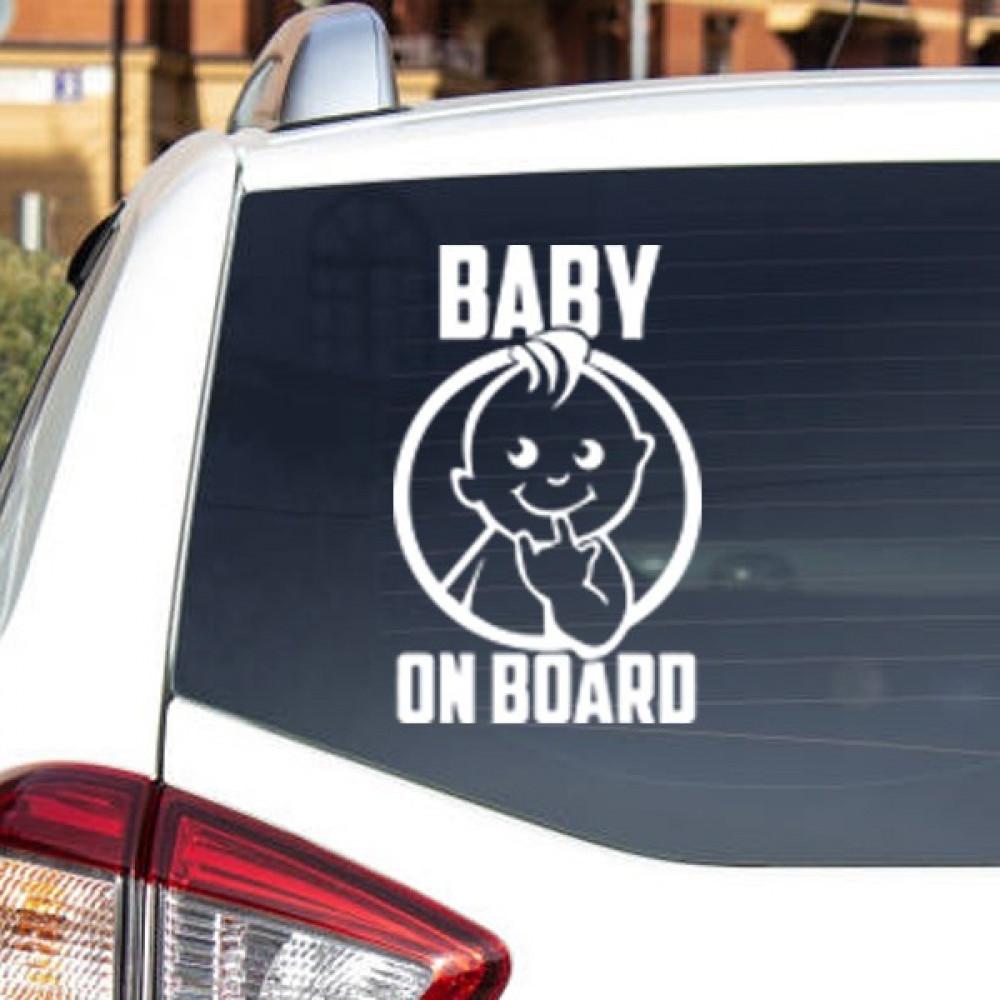 استيكر طفل في السيارة