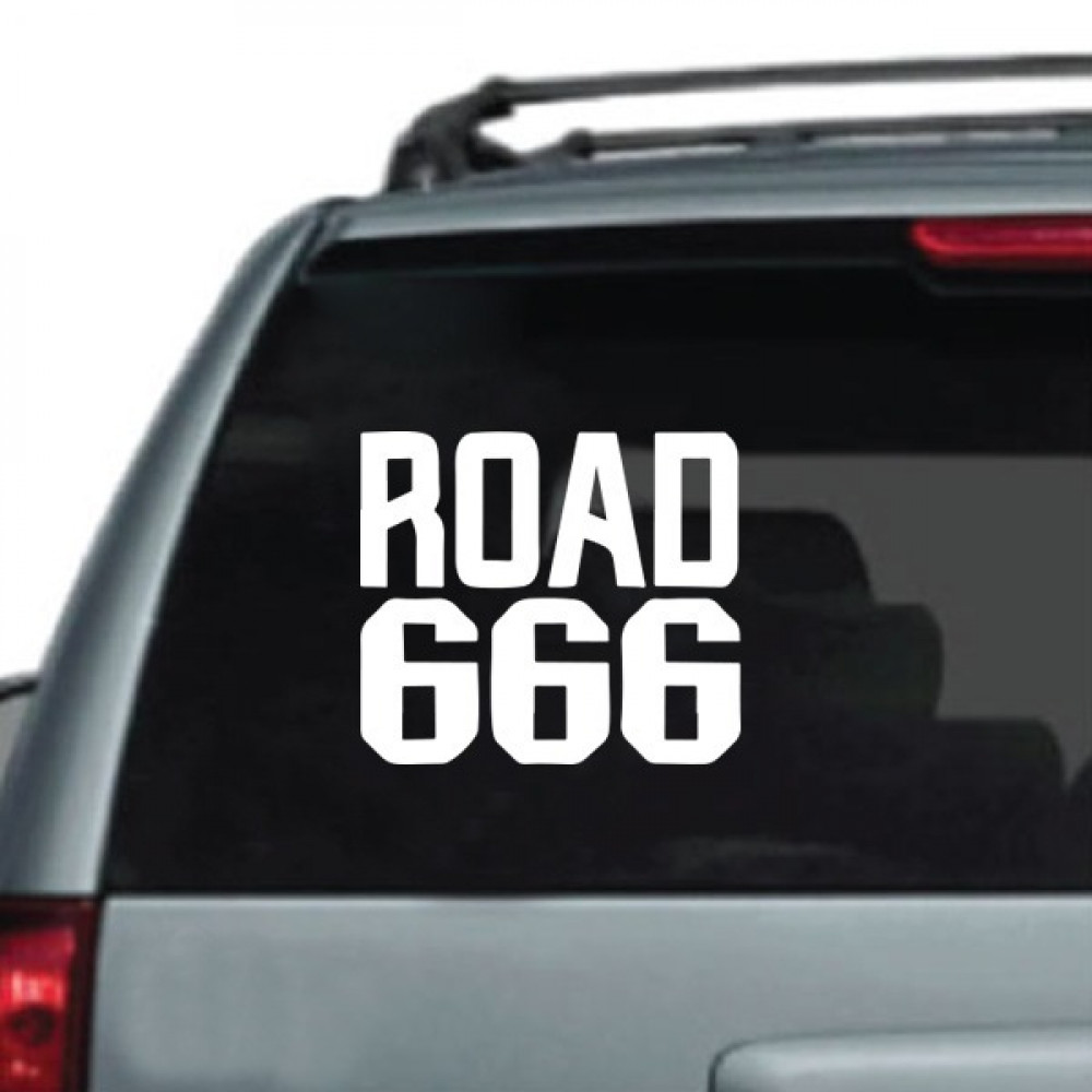 استيكر سيارات ROAD 666