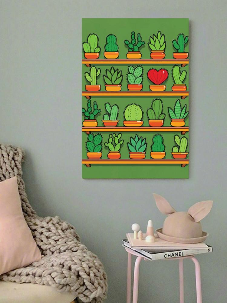 لوحة نبات الصبار خشب ام دي اف مقاس 40x60 سنتيمتر