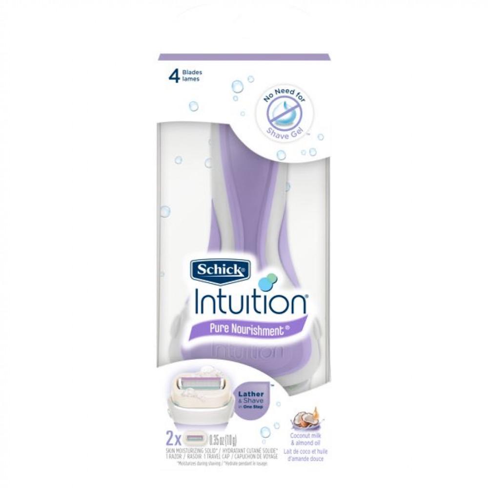 شفرات الحلاقة بحليب جوز الهند وزيت اللوز  من schick intuition